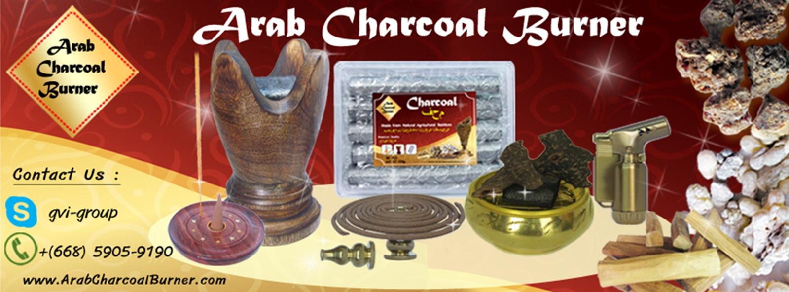 ArabCharcoalBurner – Premium Wood & Brass Charcoal Burner, Incense Burner, Incense Holder, Natural Charcoal